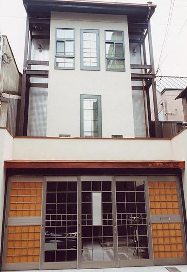 京都市 木造3階建 住宅 うなぎの寝床
